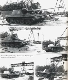 The Steyr version of the Waffentrager with the 88mm KwK45 L/71 gun