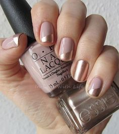 Image via We Heart It http://weheartit.com/entry/188648291/via/30126983 #manicure #nails #pink #opi #essie #colorblocking