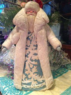 Дед Мороз ватный СССР 41см — фотография №1
