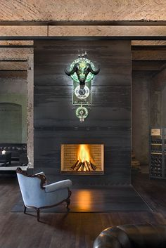 fireplace, sage restaurant. berlin