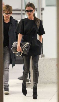 Victoria Beckham was spotted leaving LAX Airport after a brief trip to London to promote the 'Viva Forever!' musical, 2012