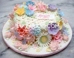 bolos decorados com flors - Pesquisa Google