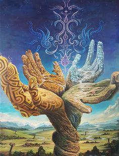 "Land Of Creation"" by Sander Bos & Mapije de Wit Alex Gray Art, Psychadelic Art, Psy Art, Spirited Art, Mystique, Visionary Art, Sacred Art, Surreal Art, Fractal Art"