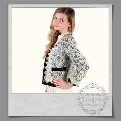 #Cropped #Contrast #Lace #Jacket