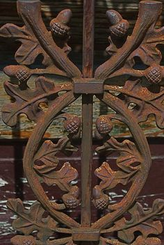 wrought iron door by DiscourseMarker, via Flickr