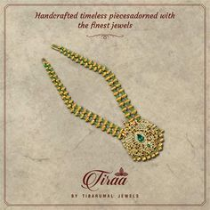 Latest Jewellery, Gold Jewellery, Jewelry Necklaces, Antique Necklace, Emerald, Crochet Necklace, Inspire, Indian, Jewels