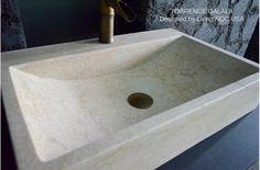 Vasque marbre Beige 60x40 trou de robinet PEGASUS GALALA