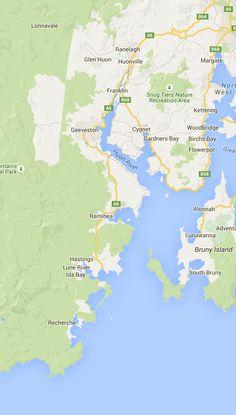 Map Bruny Island Accomodation