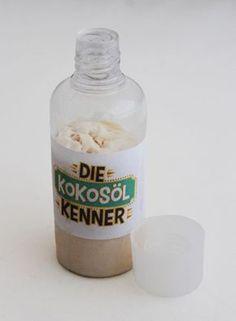 Shampoo Kokosoel selber machen | Notiz:  Statt als Shampoo funktioniert das bestimmt auch als Duschgel...