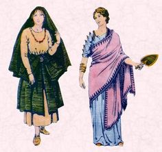 The clothing on the right is quite adaptable to many bodies. Notice the woman's features are less classically sculpted than we are used to seeing in Greek dress. This is Roman dress. http://3.bp.blogspot.com/-LuO8JopBBGQ/TfWeNREL6pI/AAAAAAAAMs8/OtEdq7Leymg/s1600/ancient+roman+clothing+for+women.bmp