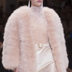 Runway shared by sιмσηεт on We Heart It Queen Fashion, Pink Fashion, Runway Fashion, Fashion Outfits, Womens Fashion, Armani Privé, Coat, Catwalk, Glamour