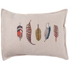 Coral and Tusk - small feathers pillow