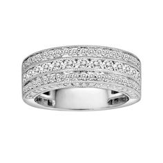 14k White Gold 1-ct. T.W. IGL Certified Diamond Wedding Ring, Women's, Size: 6.50