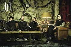 AFI Group Sitting on Couch 36x24 Art Print Poster