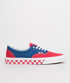 50dd0c8d82 FOR SALE  Vans Era Shoes BMX Checkerboard True Blue Red Skate Old Skool  Skyway Mongoose