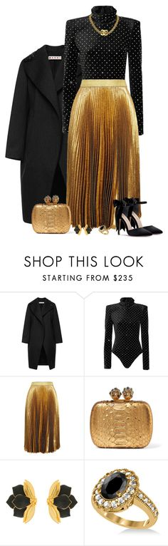 """DARE"" by tuomoon ❤ liked on Polyvore featuring Marni, Yves Saint Laurent, Christopher Kane, Alexander McQueen, Oscar de la Renta and Allurez"