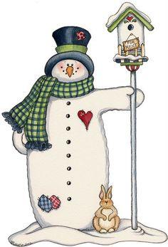 bird house snowman Mis Laminas para Decoupage (pág. 156) | Aprender manualidades es facilisimo.com