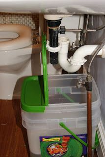 Capturing Greywater From the Bathroom Sinks