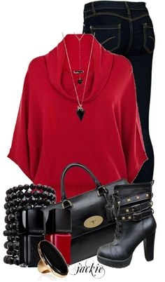 """""""Red and Black"""" by jackie22 ❤ liked on Polyvore"""