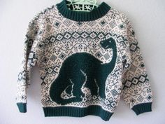 vintage dinosaur sweater by 3RingCircus on Etsy