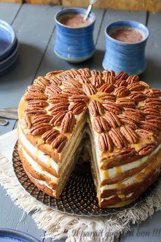 gâteau aux pommes, crème de pomme et noix de pécan (7 sur 7)
