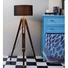 Piper Tripod Floor Lamp Target Floor Lamps, Nautical Lamps, Floor Lamp With Shelves, Contemporary Floor Lamps, Office Lighting, Tripod Lamp, Light Decorations, Lamp Light, Spotlight