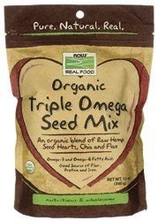 NOW Foods Real Food Organic Triple Omega Seed Mix -- 12 oz - List price: $8.99 Price: $7.69