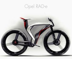 Opel-RAD-e-1, futurist bike, wonder what it weighs