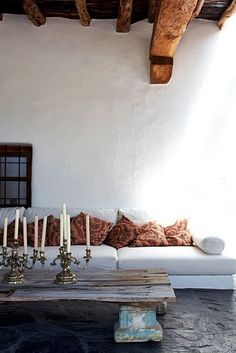 interior shots by brie williams by the style design office de casas interior design Interior Architecture, Interior And Exterior, Interior Design, Ibiza Style Interior, Stone Interior, Modern Interior, Rustic Chic, Rustic Decor, Rustic Modern