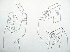 Greeting, Saul Steinberg
