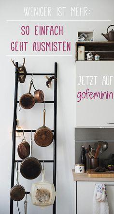 So einfach geht Ausmisten! Jetzt auf http://www.gofeminin.de/wohnen/mehr-platz-in-der-wohnung-schaffen-s1508272.html