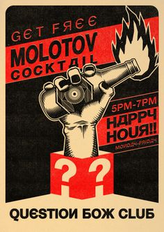 "Inspired by ""Super Mario Bros""( fire flower), molotov cocktail and propaganda poster. check out my super mashroom poster [link] Molotov Cocktail Brainstorm, Shepard Fairey Art, Revolution Poster, Arte Punk, Molotov Cocktail, Russian Constructivism, Ww2 Posters, Propaganda Art, Political Art"