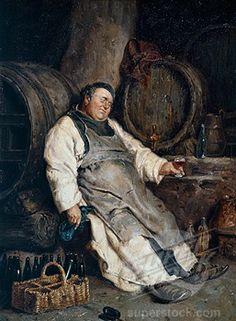One Too Many Grutzner, Eduard von Arte Peculiar, Copper Art, Wine Art, Bacchus, Jesus Pictures, In Vino Veritas, Dark Ages, Renaissance Art, Cultura Pop