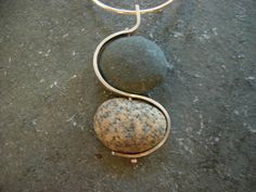 double making waves beach stone necklace by thegildedlilystore