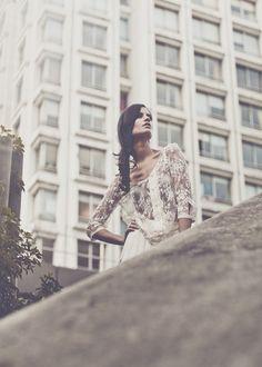 Laure de Sagazan, lace blouse