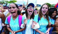 Venezuelan women take to streets to protest…