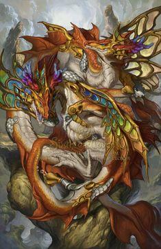 2015 Zodiac Dragons Pisces, Christina Yen on ArtStation at http://www.artstation.com/artwork/2015-zodiac-dragons-pisces