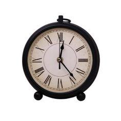 Metal Round Mantle Clock