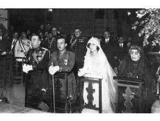 El entonces teniente coronel Francisco Franco, en su boda con Carmen Polo, en Oviedo. Era el 16 de octubre de 1923. Ofició como padrino el general Losada en nombre de Alfonso XIII.