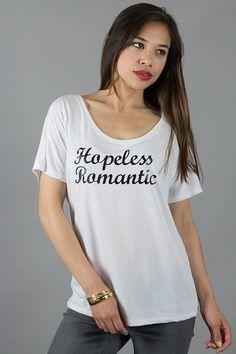 Hopeless Romantic shirt love shirt boyfriend shirt by FancyEdition, $23.99