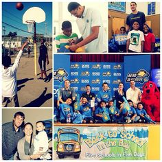 Last week the #Warriors visited five schools in five days as part of their Back To School In The Bay campaign. #Warriors staff, coaches, and players – including Klay Thompson, David Lee, Harrison Barnes, Andrew Bogut, & Kent Bazemore – visited five Bay Area schools to raise awareness about the importance of education and inspire students to do their best in school and always strive to reach their goals. Photos,