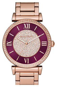 MICHAEL Michael Kors 'Catlin' Bracelet Watch, available at - Wish list - Watches Bijoux Michael Kors, Michael Kors Schmuck, Boutique Michael Kors, Sac Michael Kors, Michael Kors Rose Gold, Michael Kors Outlet, Handbags Michael Kors, Michael Kors Watch, Rose Watch