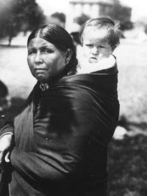 Historic photos of Osage Indian women and children