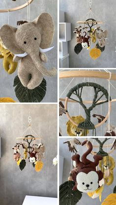 Felt Mobile, Baby Crib Mobile, Newborn Gifts, Baby Gifts, Felt Crafts, Paper Crafts, Gifts For New Mothers, Diy Bebe, Hanging Mobile