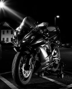 Kawasaki Zx6r Motorcycle Supersport Black And White