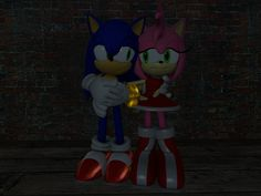 My 2nd SonAmy Pose fromGarry's Mod, I have put more effort into it since I am more fluent with eye posing. Sonic and Amy belong to Sega, Sonic Garry's Mod model made by Apoc Hedgie, Amy Garry...