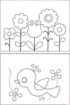~ Flowers and a bird = cute!
