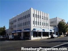 1022 SE Oak Avenue – Commercial Opportunity in Downtown Roseburg! The Professional Center building located on a busy corner in Downtown Roseburg is available! Just a few blocks to the court house, restaurants, and downtown merchants. Street frontage spaces ideal for restaurant or retail. 2nd and 3rd floors can accommodate professional office space to professional services or loft style housing. Photos are from when building was occupied. Diamond in the rough!