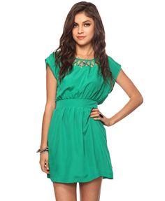 Lattice knotted dress-Forever 21