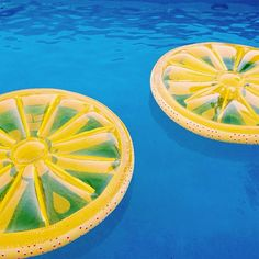 pool party decorations: lemon pool floats!